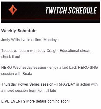 schedule twitch